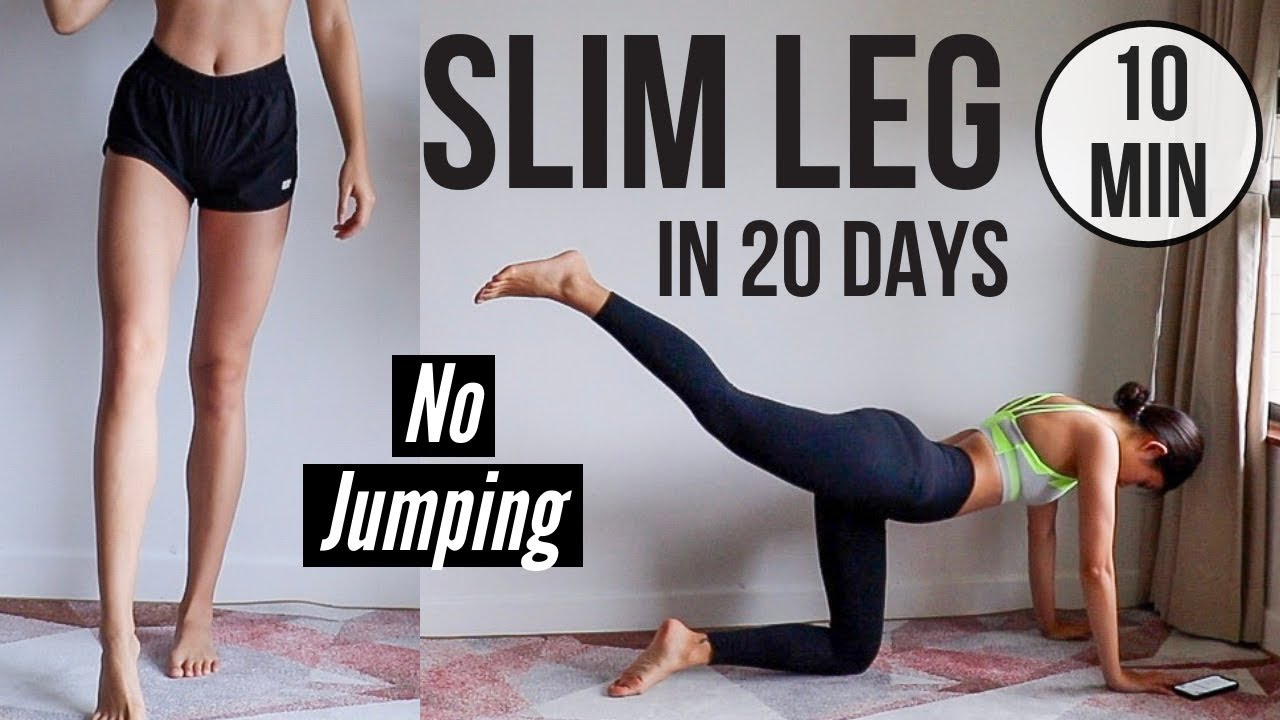 Download SLIM LEGS IN 20 DAYS! 10 min No Jumping Quiet Home Workout ~ Emi