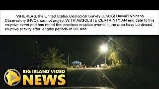 Hawaii Volcano Eruption Emergency Proclamation Extended (Oct. 31, 2018)