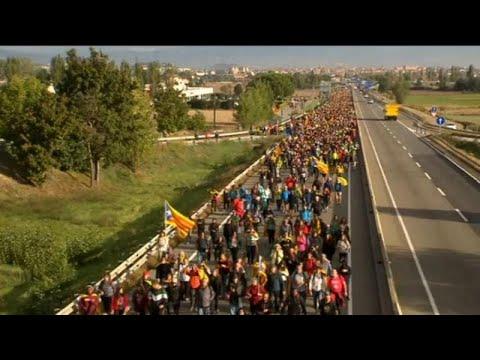 Marchas pela liberdade rumo a Barcelona