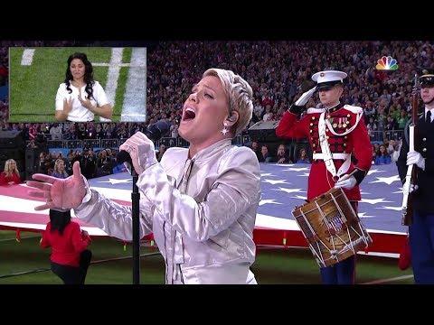 Super Bowl LII - National Anthem by Pink