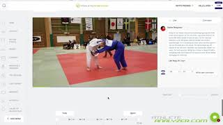Match feedback and basic technique analysis in Athlete Analyzer Judo
