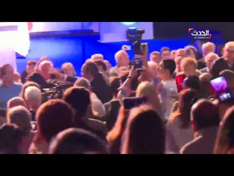 بالفيديو.. مؤتمر انتخابي لمرشحة اليمين المتطرف في فرنسا مارين لوبان يتحول إلى