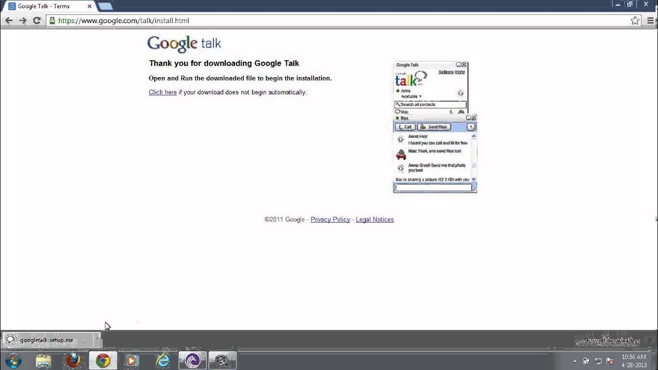 Google Talk Setup