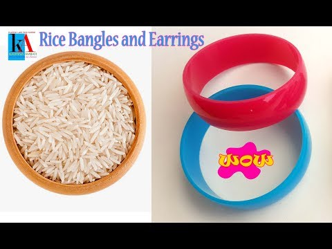 How to make Silk Thread Bangles with Rice Grains || Latest Bangles designs