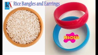 How to make Silk Thread Bangles with Rice Grains    Latest Bangles designs