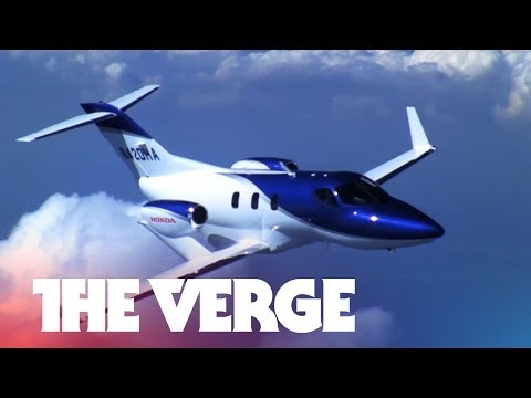 Watch Honda's weird luxury jet in action