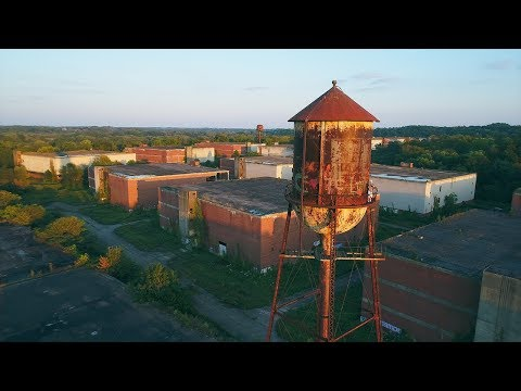 Linfield Abandoned Industrial Park Drone Footage