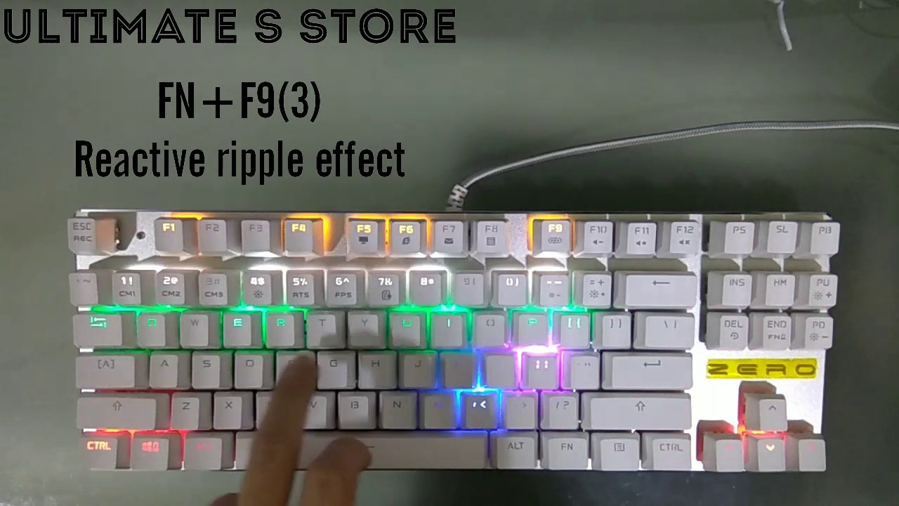 Zero Mechanical Keyboard Review Amp Test Led Lighting Modes