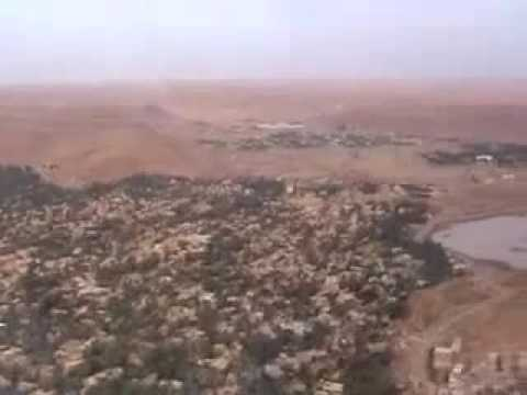 A Flight above Algeria (North Africa) - From Ghardaia to Ora