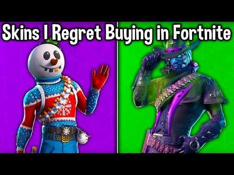 10 SKINS I REGRET BUYING in FORTNITE! (Why Did I Buy These Skins)