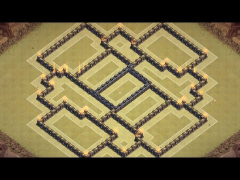 Clash of clans - TH8 Best War Base [Town hall 8 Anti Hog/Anti Dragon/Anti Gowipe]