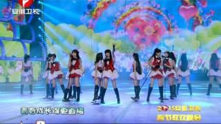 SNH48 《无尽旋转》《一心向前》 安徽卫视 2015 春晚