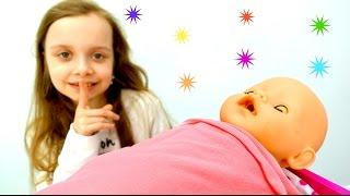 Любимые #КУКЛЫ: Укладываем спать ЭМИЛИ БЕБИ БОН! Дочки-матери Игры для девочек #BabyBorn