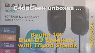 Unboxing: Bauhn Dual DJ Speakers with Tripod Stands ADS10-014