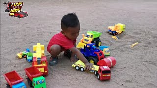 Car Toys Playing For Children | Smart Boy Playing Toy Car Popular By Toys For Kids KH