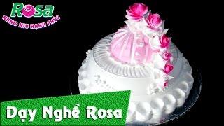 [Birthday Cake] Trang trí bánh kem sinh nhật: bắt hoa Hồng cánh Hoa Quỳnh