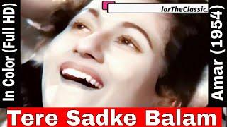 Tere Sadke Balam Na Kar Koi Gham In Color (HD)   Lata Mangeshkar   Amar   Madhubala, Nimmi