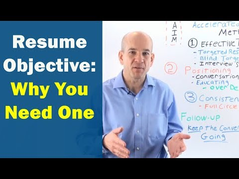 How to write a JOB OBJECTIVE on Your Resume