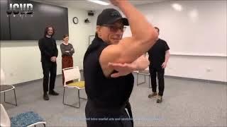 Jean-Claude Van Damme's First Martial Arts Basics Class at Facebook HQ