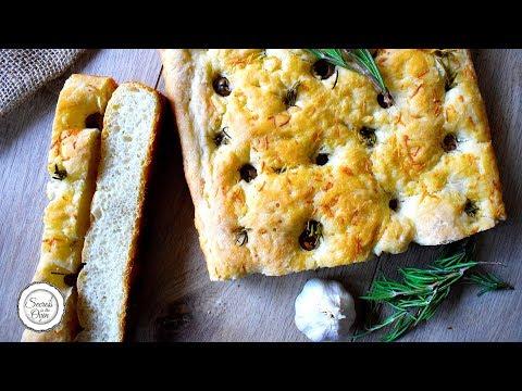 Olive Rosemary Focaccia | How to make perfect Italian Focaccia