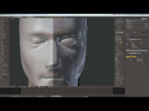 Timelapse: Modeling a Human Head in Blender with BMesh