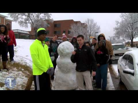 Snow day at Tyler Junior College