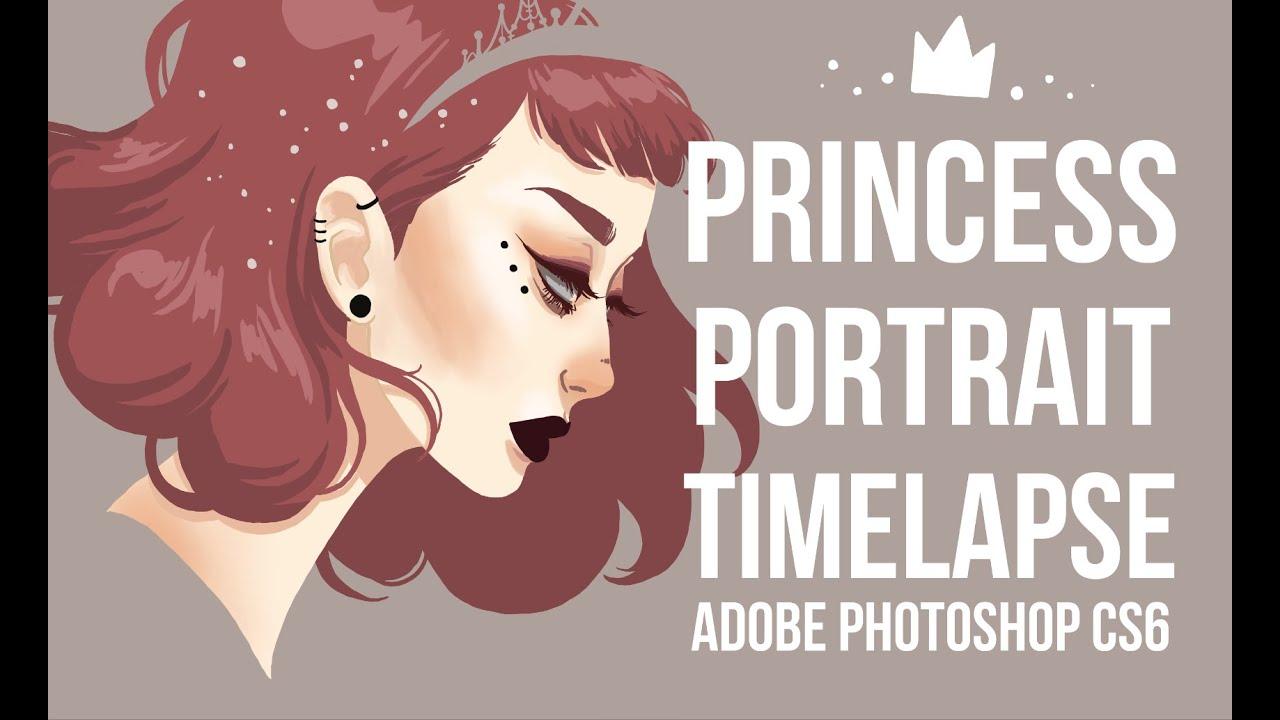 Princess Digital Portrait Illustration Timelapse