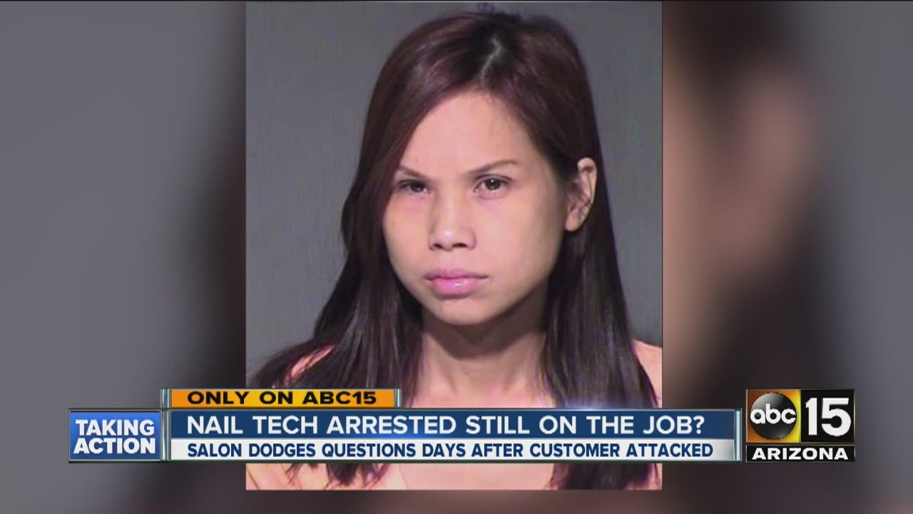 Nail tech arrested still on the job? - YouTube