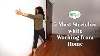 Must stretches for those working from home during lockdown || Office Yoga || Home Yoga
