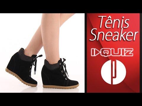 8bc740d8d98 Tênis Sneaker Feminino Quiz - 6100173412 - YouTube