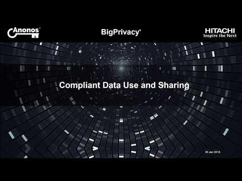 Anonos & Hitachi Vantara - BigPrivacy GDRP Breakfast Briefing (30 January 2018)