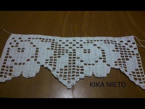 Proyecto de cenefas mes de enero 2015 youtube - Cenefas de crochet ...