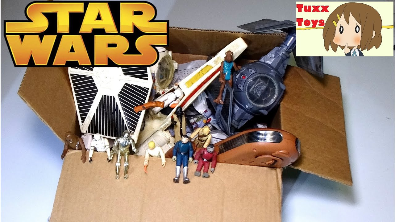Mystery box of old star wars toys 1st generation 1977 RARE BLUE