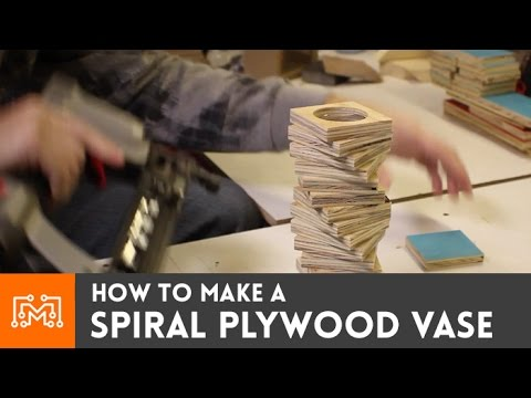 How to make a spiral plywood vase