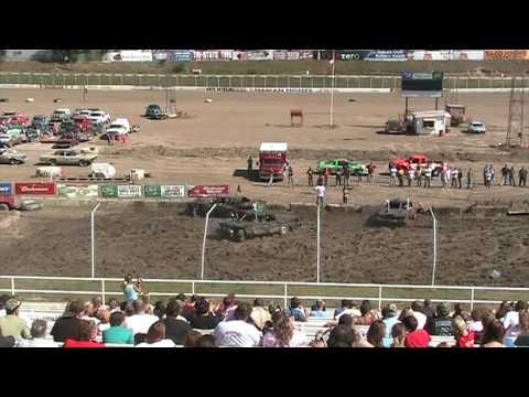 2009 black hills speedway demolition derby heat 2 part 2