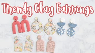 DIY POLYMER CLAY EARRINGS | HOW TO MAKE CLAY EARRINGS | CLAY EARRING TUTORIAL