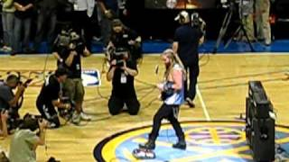 Zakk Wylde performing the National Anthem at the Denver Nuggets vs. L.A Lakers game on 5-29-09