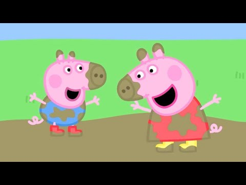 Peppa Pig English Episodes | Muddy Puddles! | 2 HOUR SPECIAL Peppa Pig Official