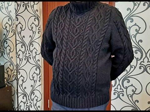 Вязание спицами мужской свитер реглан сверху 52 размер