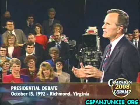 1992 Presidential Debate with George HW Bush, Bill Clinton &