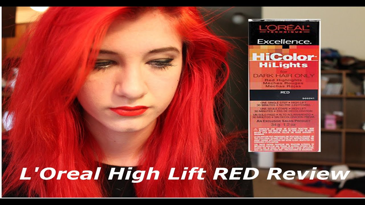 L Oreal Hicolor For Dark Hair Red Hot Hairstly
