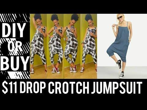 $11 DIY DROP CROTCH JUMPSUIT IN 20MIN | 10% DISCOUNT ON FABRICS | DIY CLOTHES
