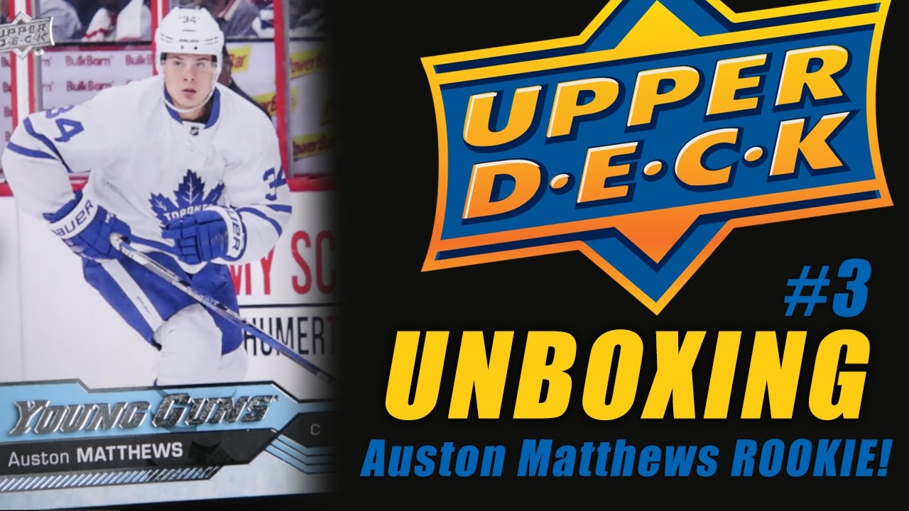 Upper Deck Card Unboxing 3 Auston Matthews Rookie