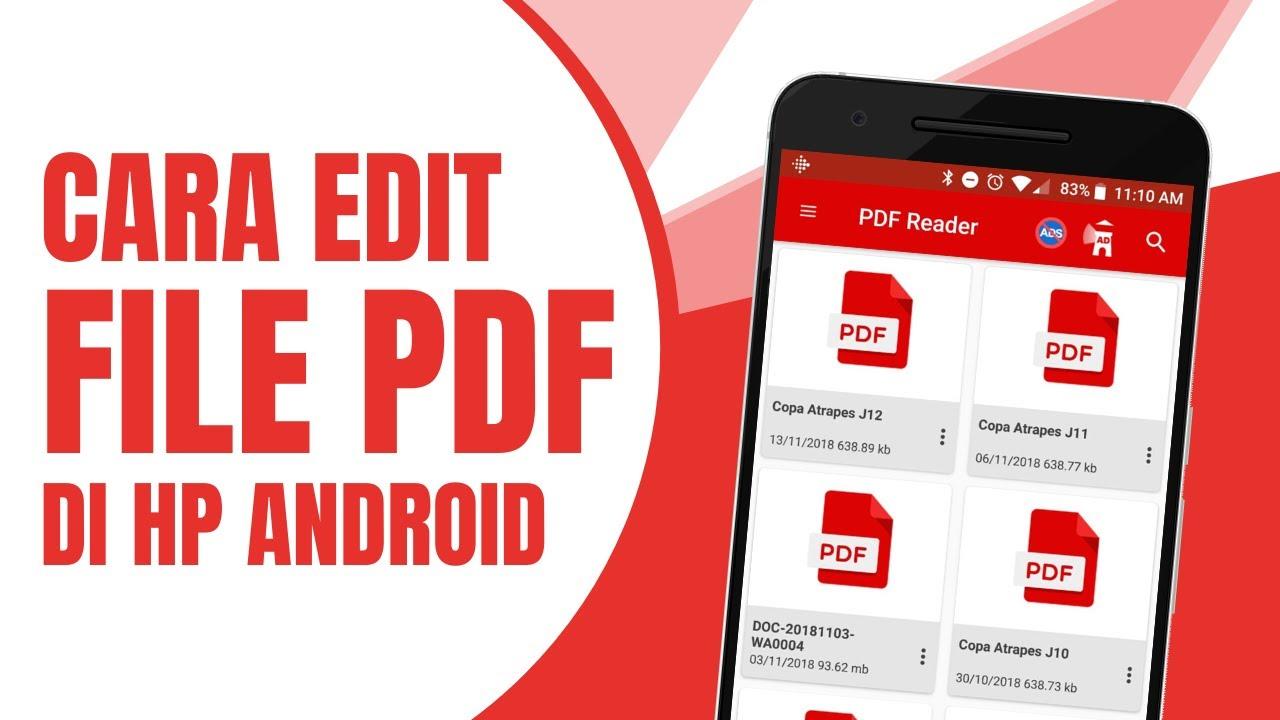 Cara Edit File Pdf Di Android Youtube