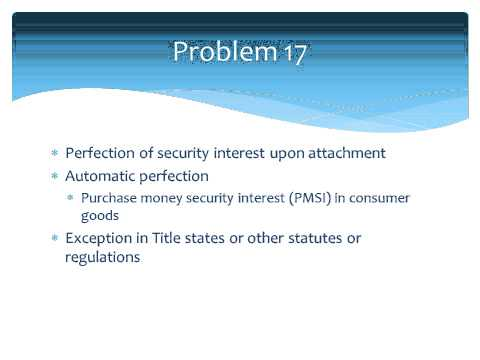 Secured Transactions Problems