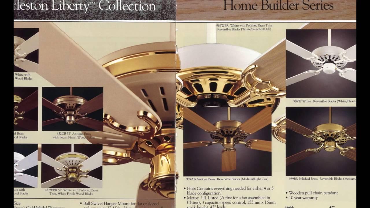 Fasco F A Smith Company Ceiling Fan Catalog From 1993