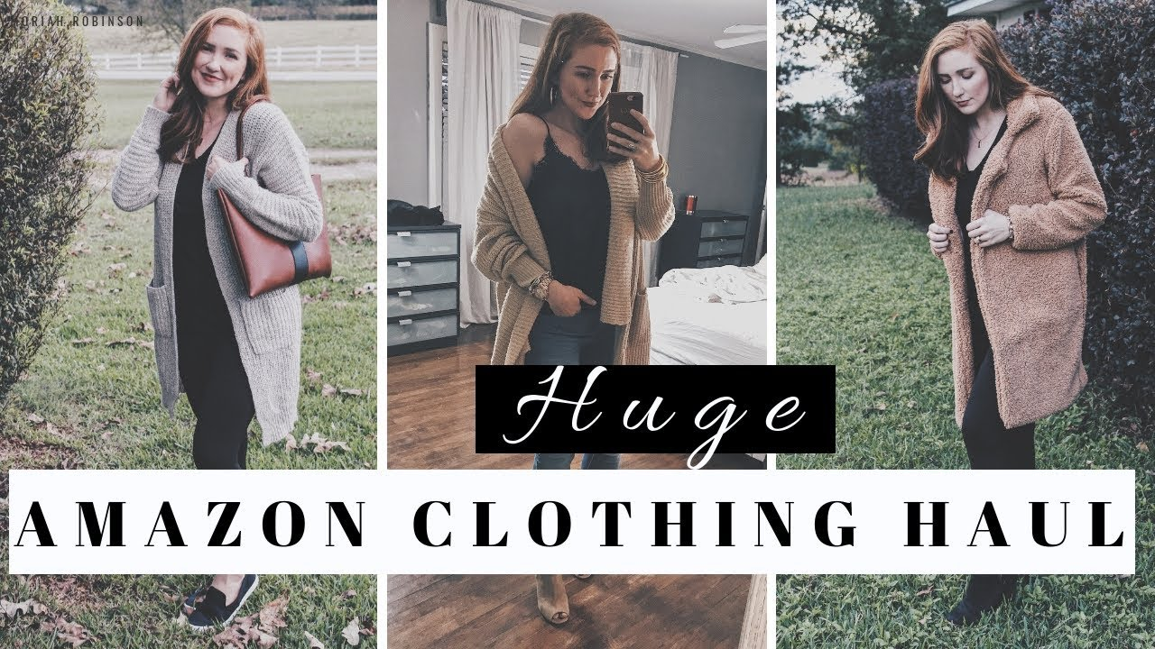 23885bb67b HUGE AFFORDABLE AMAZON CLOTHING FASHION HAUL + TRY ON SESSION | Moriah  Robinson