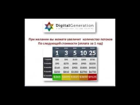 Digital Generation Заработок без вложений и затрат по времени