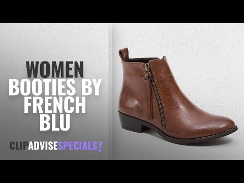 Top 10 French Blu Women Booties [2018]: French Blu Women's Zippy Ankle Boot, Brown, 7