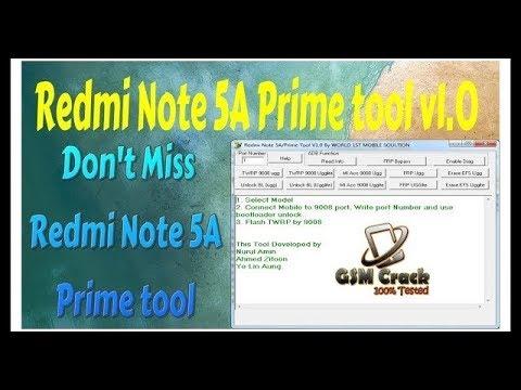 Redmi Note 5A prime tool v1 0 mi account remove 1000%